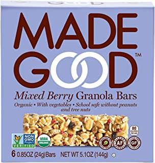 Made Good Granola Bar Mixed Berry, 5.10oz.Case of 6 Boxes