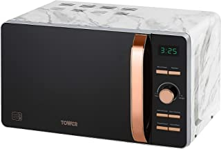 Tower T24021WMRG Digital Solo Microwave with 6 Power Levels, 60 Minutes Timer, Defrost Function, 800 W, 20 Litre, Marble and Rose Gold