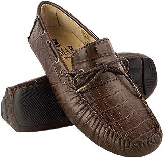 Zerimar Chaussures Bateau en Cuir pour Hommes | Chaussures Nautiques | Mocassins
