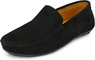 FENTACIA Men Suede Leather Loafers(Big UK6-UK12)