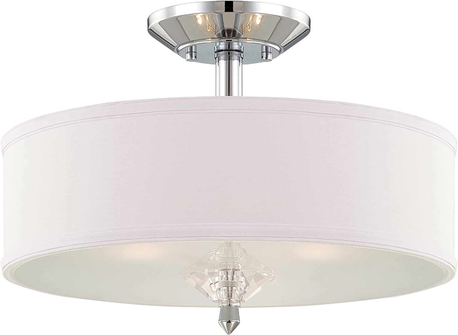 Designers Fountain 84211-CH Palatial Semi-Flush