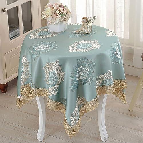 Qiao jin Tischdecke Quadratische Tischdecke, Europ che Tischdecken Tuch Tischdecke Blau Nachttisch Tuch Abdeckung Tuch (Farbe   A, Größe   160  16cm)