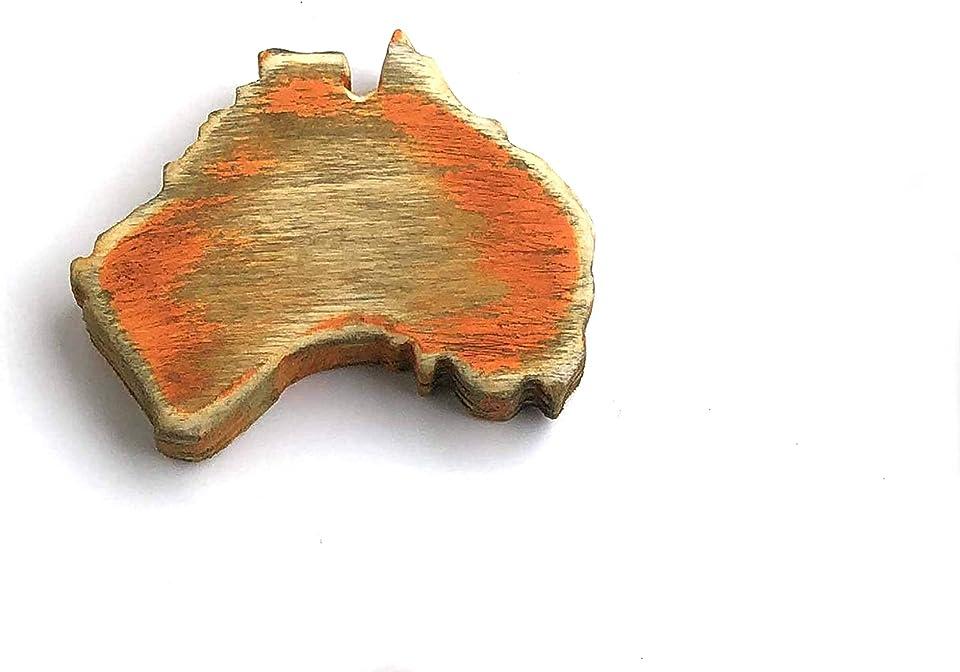 "worldreise Handgefertigter Mini Magnet AUSTRALIEN""shabby style"" Kühlschrank Whiteboard Pinnwand"