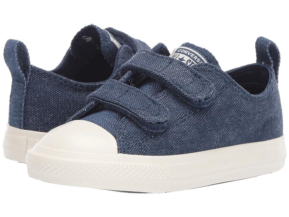 Converse Kids Chuck Taylor All Star 2V Washed Out Ox (Infant/Toddler) (Navy/Egret/Egret) Boys Shoes
