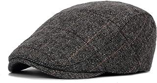Yuson Girl Boinas para Hombre Ajustable Hat Gorra Gatsby Sport Cap Gorra de Corte Plano Boinas Deportiva