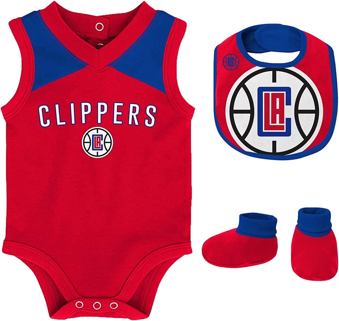 half Outerstuff NBA Newborn Infants Overtime Bib and 67% OFF of fixed price Creeper Piece 3