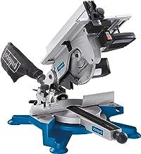 Scheppach 5901103901 ingletadora combinada con tapa de mesa, dos sierras en un solo dispositivo, versátiles, compacta, robusta y ligera, motor de 1800 W, 230 V, Azul, Plateado, Negro