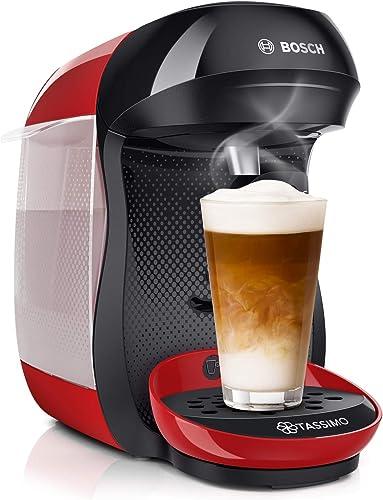 Bosch Electroménager TASSIMO Happy TAS1003 Machine à boissons chaudes, 1400 W, 0.7 litre, Rouge/Noir