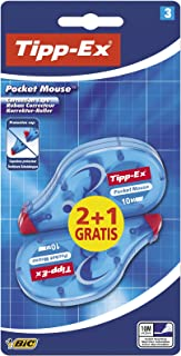 Tipp-Ex Pocket Mouse cinta correctora, 10 m x 4.2 mm, blíster de 3 unidades