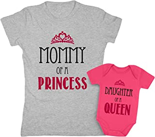 Mother & Daughter Matching Set Gift for Mom & Baby Girl Bodysuit & Women Tee