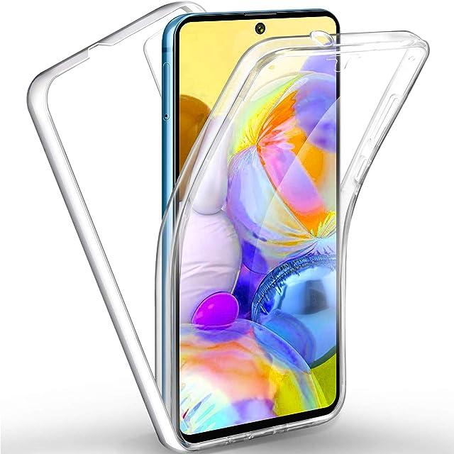 TBOC Funda para Samsung A71 [6.71] - Carcasa [Transparente] Completa [Silicona TPU] Doble Cara [360 Grados] Protección Integral Total Delantera Trasera Lateral Móvil