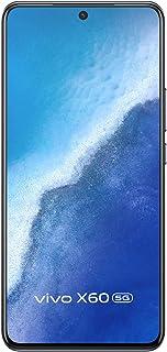 فيفو X60 ثنائي شرائح الاتصال اسود داكن ذاكرة RAM 12 جيجابايت و256 جيجابايت الجيل الخامس مع هدية وسائد اذن نيو من تي دبليو اس