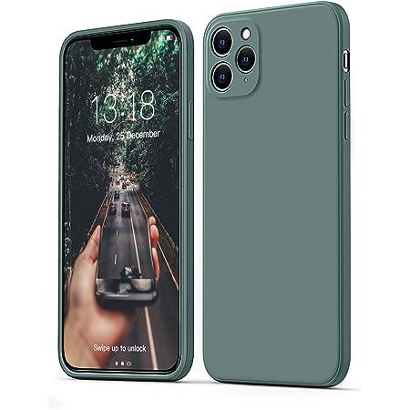 """GOODVISH Funda de Silicona Líquida Ultrafina para iPhone 11 Pro 5,8"""", Protección de la Pantalla y la Cámara, Especial Diseño de Borde Recto, Disipación de Calor Rápido(Pino Verde)"""