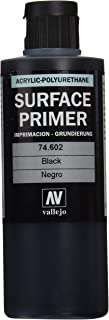 Vallejo Black Primer Acry-Poly 200ml Paint