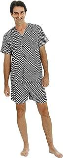 Alexander Del Rossa Mens Satin Pajamas, Short V-Neck Pj Set