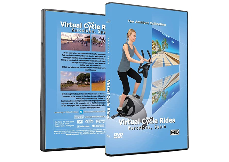Virtual Cycle Rides DVD - Barcelona, Spain - for Indoor Cycling, Treadmill and Running Workouts