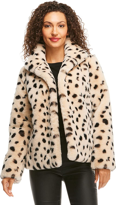 Wild Cheetah Faux Selling rankings Jacket Genuine Fur BFF