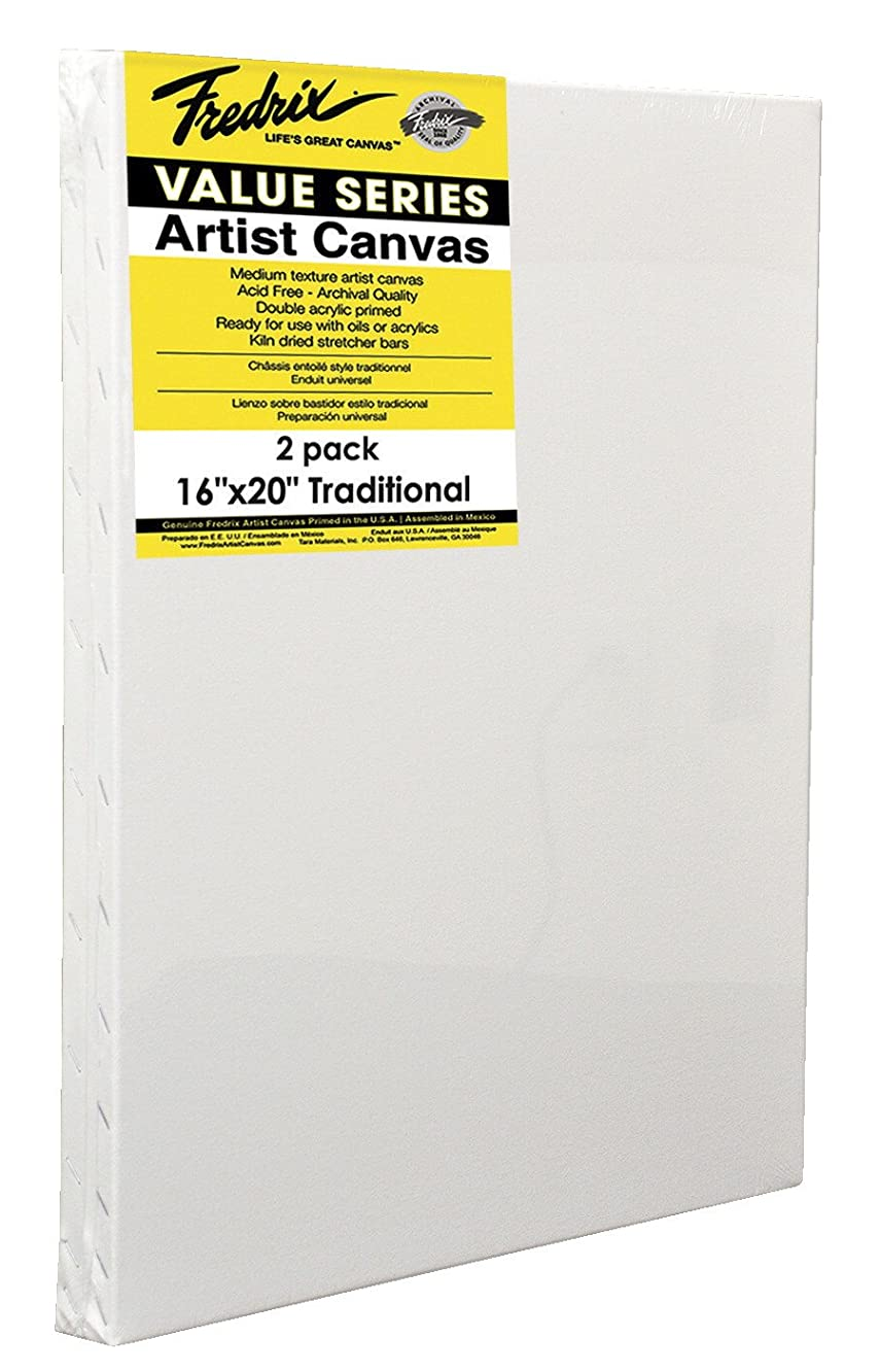 Fredrix Value Series Pre-Stretched Artist Canvas, 11 x 14 in, White, Pack of 2