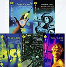 S.F. MASTERWORKS Philip K. Dick Collection 5 Books Set (A Scanner Darkly, Martian Time-Slip, Ubik, The Word for World is F...