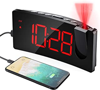 comprar comparacion Mpow Despertador Proyector, Reloj Despertador Digital con Puerto USB, 4 Brillo de Proyección y Display, Pantalla LED de 5'...