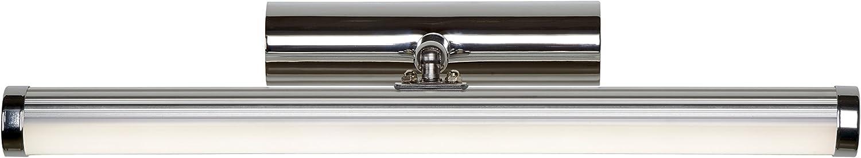 Lucide Belpa-LED-Spiegelleuchte-LED-1X11W 4000K-IP44, Metall, Integriert, 11 W, chrom, 37,2 x 10 x 7,6 cm
