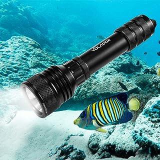Volador Tauchlampe, Dive Lamp, 2000 Lumens Underwater 150m Underwater Torch, Waterproof..