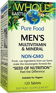 Whole Earth & Sea Mens l Multivitamin & Mineral Natural Factors 120 Tabs