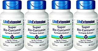 Life Extension Super Bio-Curcumin 400mg, 60 Vegetarian Capsules - 4-Pak