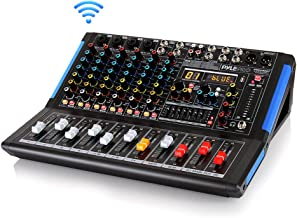 8-Channel Bluetooth Studio Audio Mixer – DJ Sound Controller Interface w/ USB Drive..