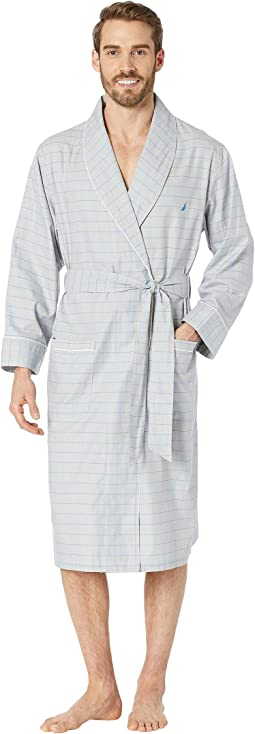 Herringbone Plaid Robe