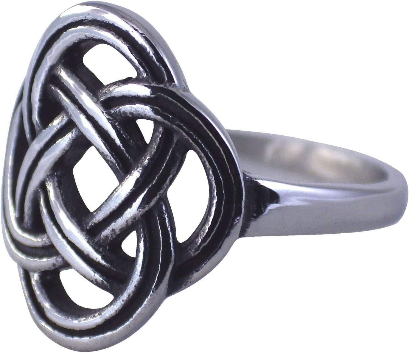 Ð¡harm - Celtic Knot Ring Womens All stores are sold Wea Silver Stainless Dara Phoenix Mall Steel