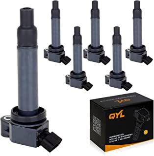 QYL 6Pcs Spark Coil Pack Replacement for Toyota Avalon Camry Highlander Sienna Lexus ES300 RX300 3.0L V6 UF267 (Only for Engine # 1MZFE)