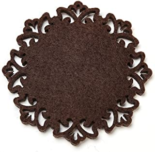 Dulce Cocina Absorbent Drink Coasters, Chcolate Brown, Beautiful Home Decor Both Eye Catching &