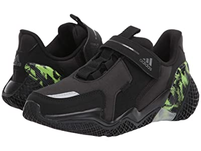 adidas Kids 4uture RnrEL (Little Kid) (Black/Night Metallic/Signal Green) Boy