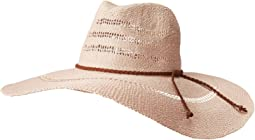 PBF7340 - Large Brim Fedora with Braided Faux Suede Trim
