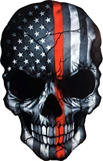 OTA Sticker Skull Skeleton Devil Ghost Monster Zombie American Flag Subdued Thin RED LINE USA Military Soldier Ranger Fire...