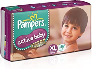 Pampers Active Baby Diapers, Extra Large (56 Count)