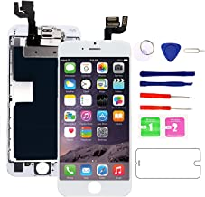 Nroech Screen Replacement for iPhone 6S 4.7'' White, 6S 3D Touch Screen LCD Digitizer Display Full Assembly with Front Camera - Ear Speaker - Repair Tool Kit - Protector