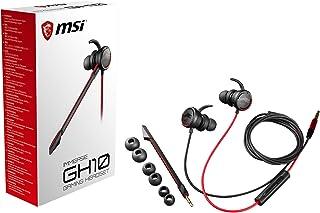 MSI Immerse GH10 - Auriculares (con micrófono, Control Remoto, alámbrico) Color Negro y Rojo, Única