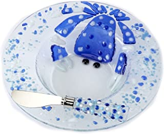Mud Pie Glass Crab Dip Cup Set, Multicolor