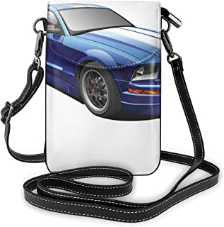 Women Small Cell Phone Purse Crossbody,American Auto Racing Theme Car Sports Competition Speed Winner Boys Kids Graphic