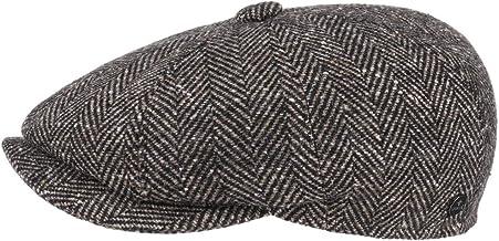 Visiera Autunno//Inverno Lierys Coppola Capri Leather Peak Uomo Made in Italy Berretto Piatto Cappello Invernale con Visiera