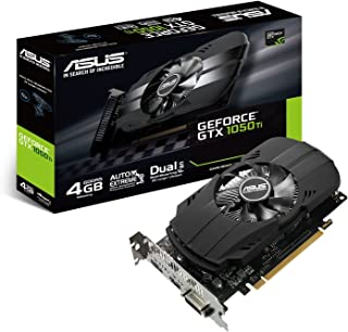 Asus PH GTX1050TI 4G Nvidia GeForce Grafikkarte (PCIe 3.0, 4GB DDR5 Speicher, HDMI, DVI, DisplayPort)