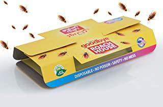 10PCS Cockroach Killer Sticky Strong Glue Trap with Food Bait, Traps | Indoor Pest Control, Kraft Eco-Friendly & Natural C...