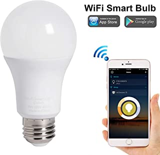 A19 Smart LED Bulb Soft White Extra Bright, Dimmable WiFi Enable, 80W Equivalent, Compatible with Alexa Google Assistant 1 Pack