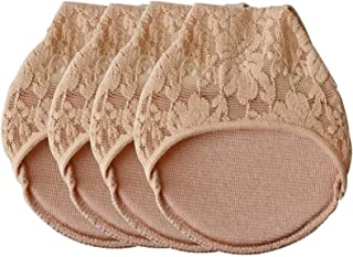 JXWYHH Ice Silk Lace Sock Pad - Comfortable Non-Slip Toe Socks, Women Non Slip High Heels Sandal Invisible Half Footie Ope...
