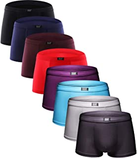 Men's Underwear Soft Bamboo Boxer Briefs Stretch Trunks Pack