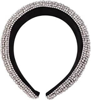 Beaupretty - Cerchietto per capelli con strass e cristalli barocco, con diamante, per feste, per donne e ragazze, colore: oro