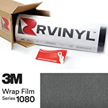 3M 1080 G201 Gloss Anthracite 5ft x 1ft W/Application Card Vinyl Vehicle Car Wrap Film Sheet Roll