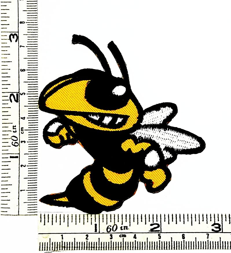 Angry bee Serious emotions cartoon Patch Embroidered Iron on Hat Jacket Hoodie Backpack Ideal for Gift